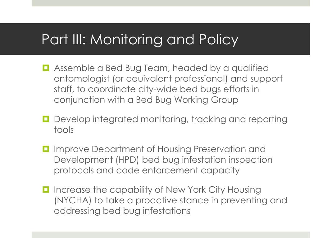 Part III: Monitoring and Policy