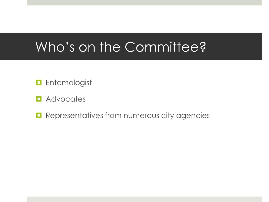 Who's on the Committee?