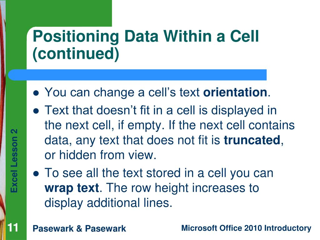You can change a cell's text