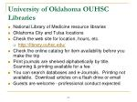 university of oklahoma ouhsc libraries