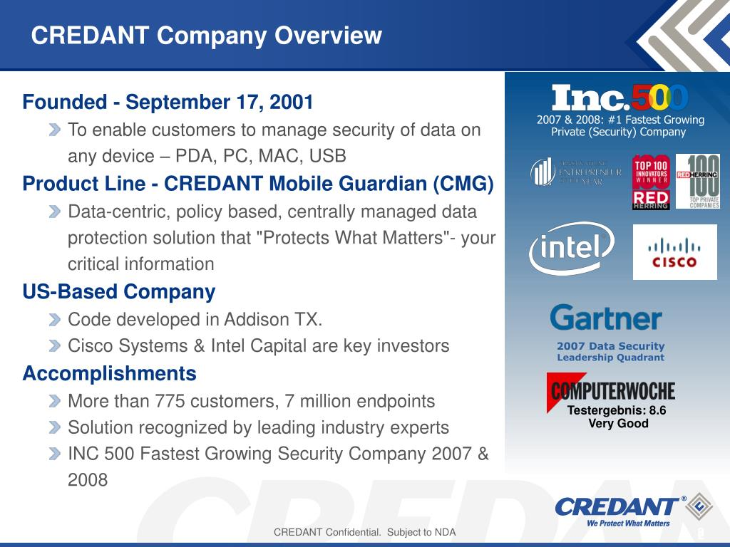 CREDANT Company Overview