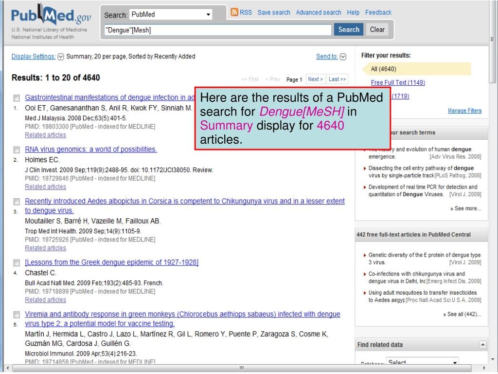 Here are the results of a PubMed search for