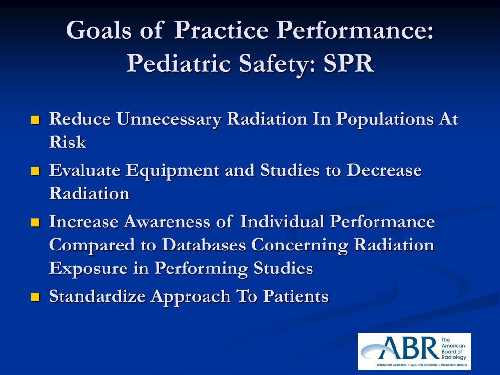 Goals of Practice Performance: