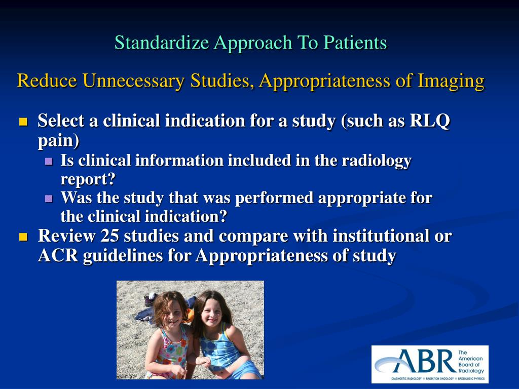 Standardize Approach To Patients