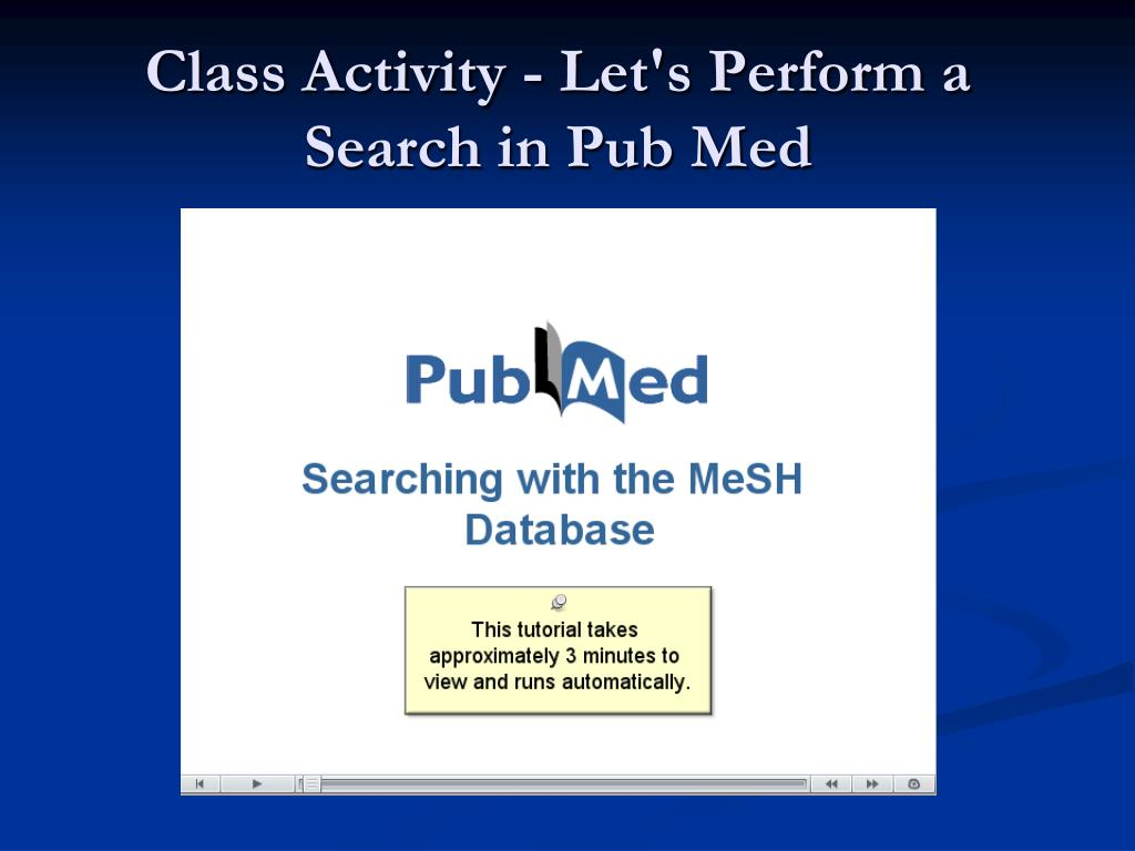 Class Activity - Let's Perform a Search in Pub Med