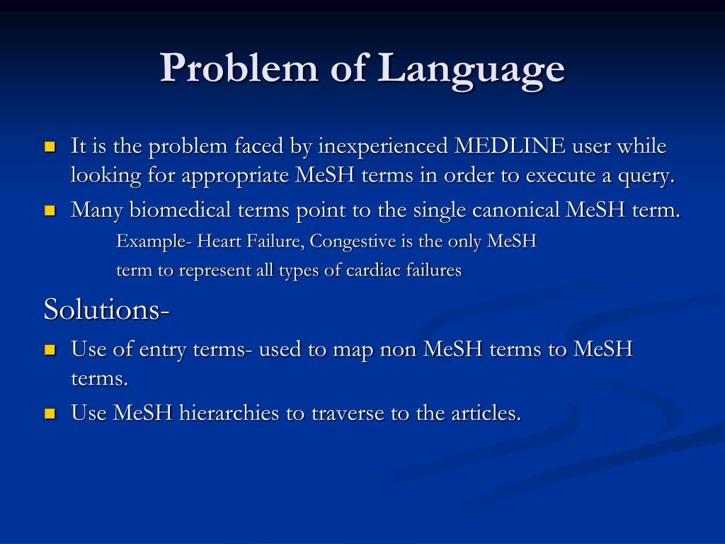 Problem of Language