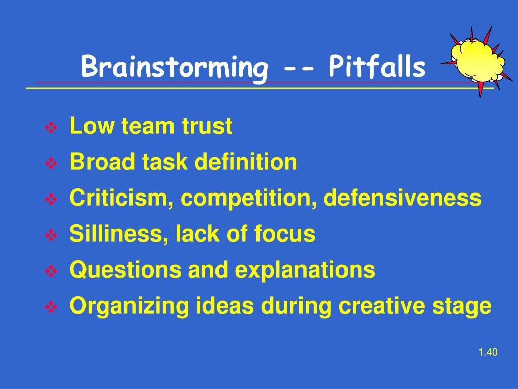 Brainstorming -- Pitfalls