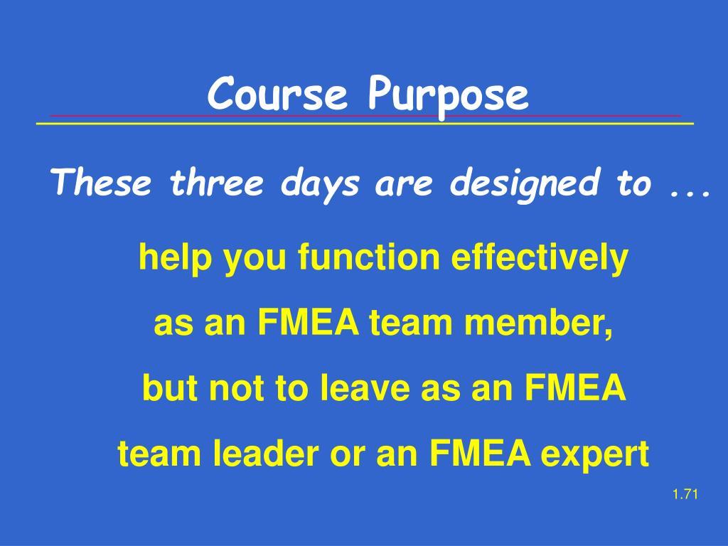 Course Purpose
