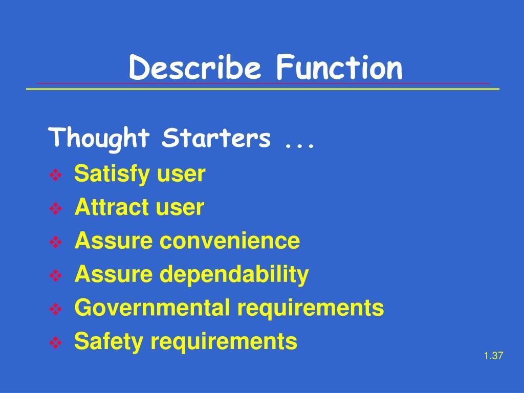 Describe Function