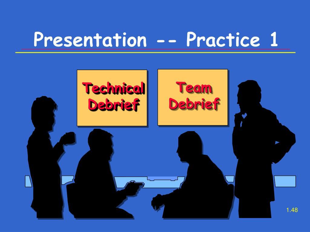 Presentation -- Practice 1
