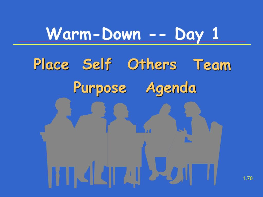 Warm-Down -- Day 1
