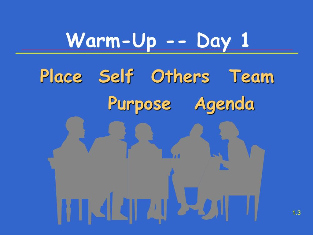 Warm-Up -- Day 1