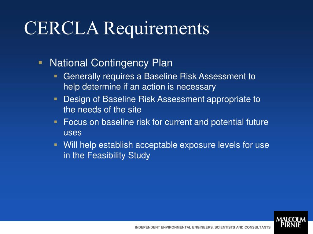 CERCLA Requirements