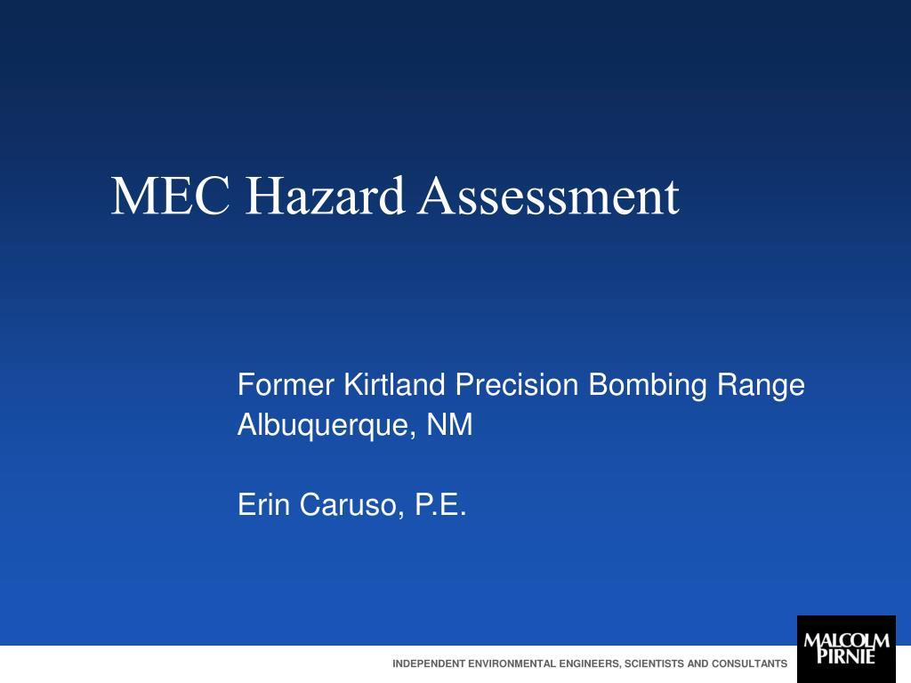 MEC Hazard Assessment