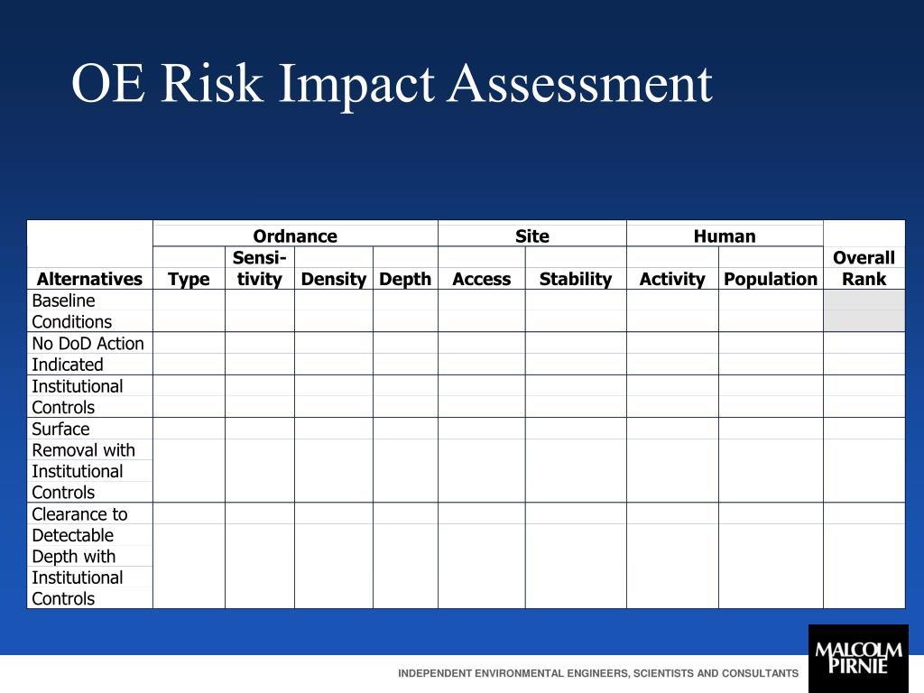 OE Risk Impact Assessment