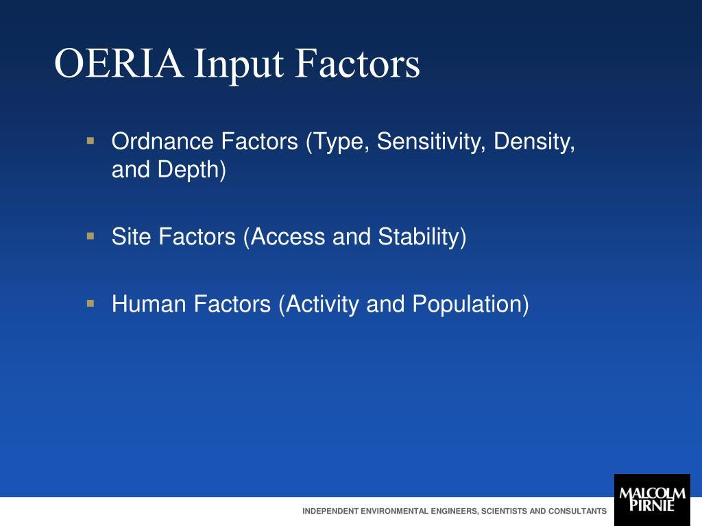 OERIA Input Factors