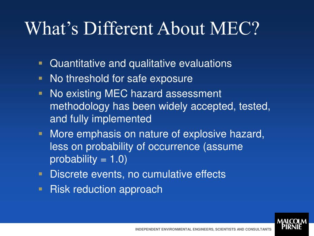 What's Different About MEC?