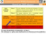 current level of who pandemic alert based on 2005 phases