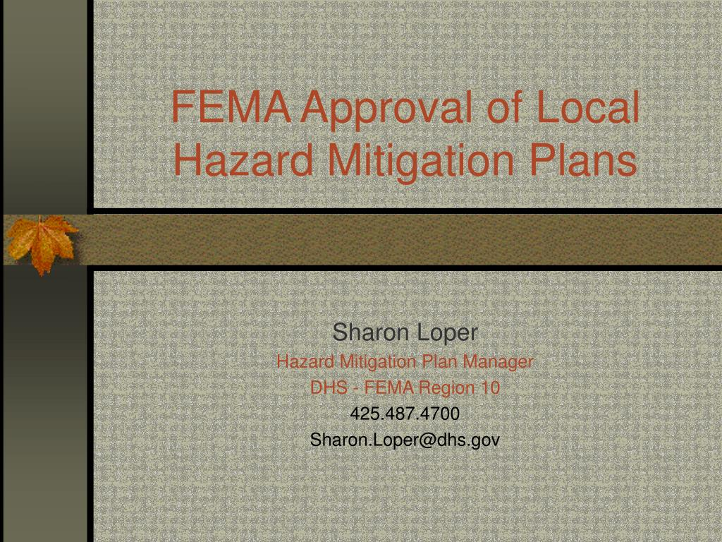 fema approval of local hazard mitigation plans
