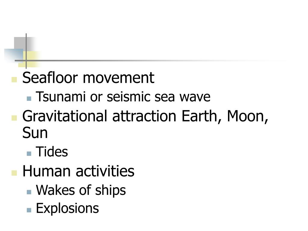 Seafloor movement