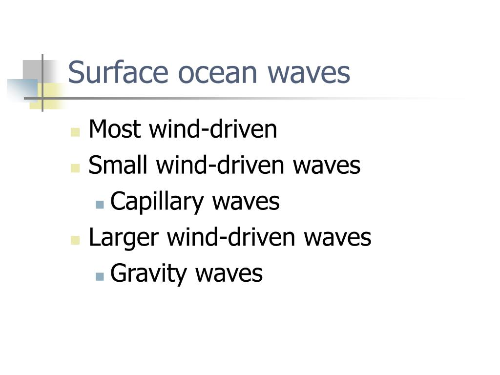 Surface ocean waves