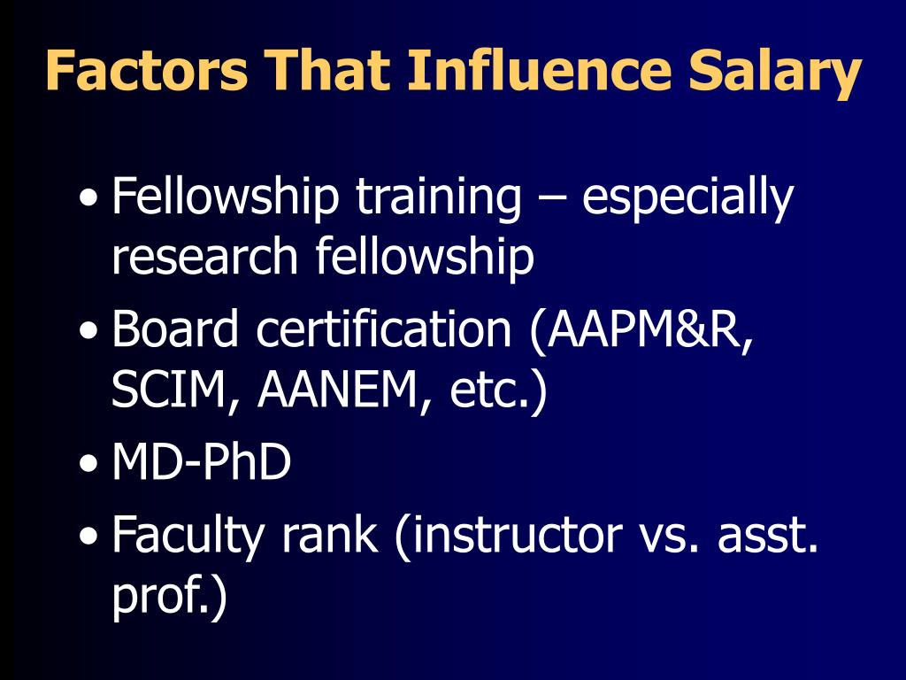 Factors That Influence Salary