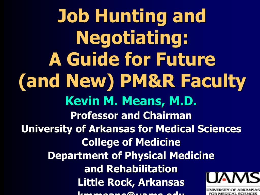 Job Hunting and Negotiating: