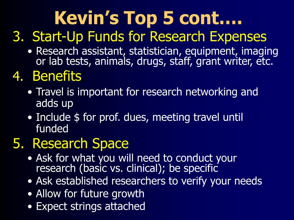 Kevin's Top 5 cont….