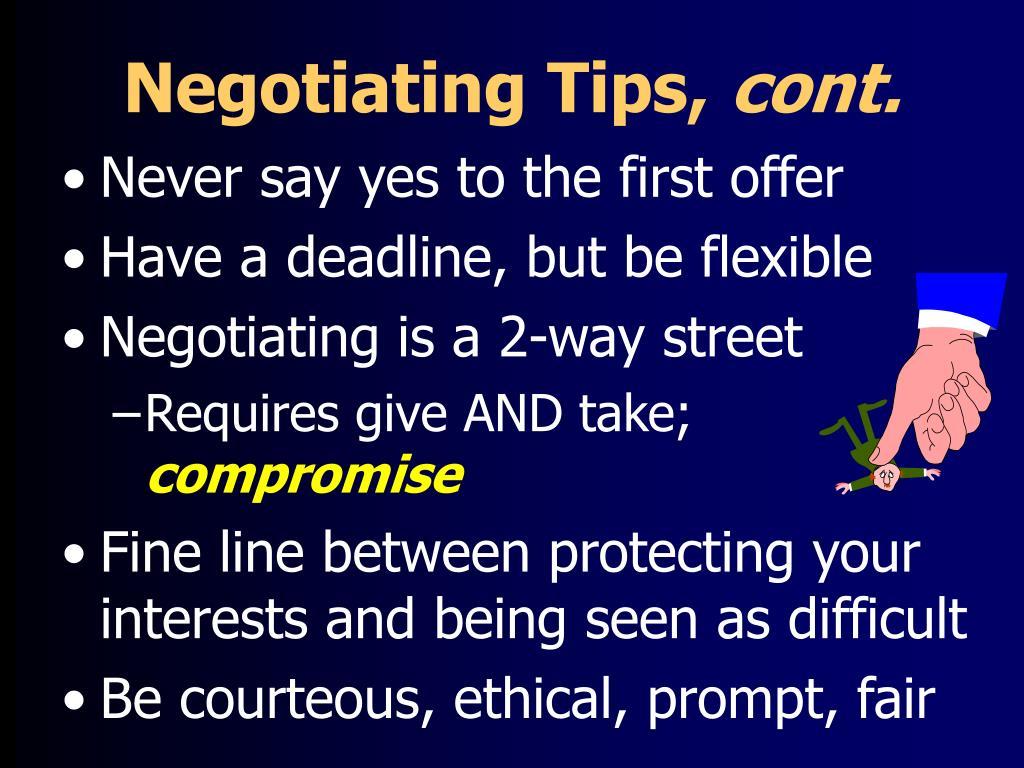 Negotiating Tips,