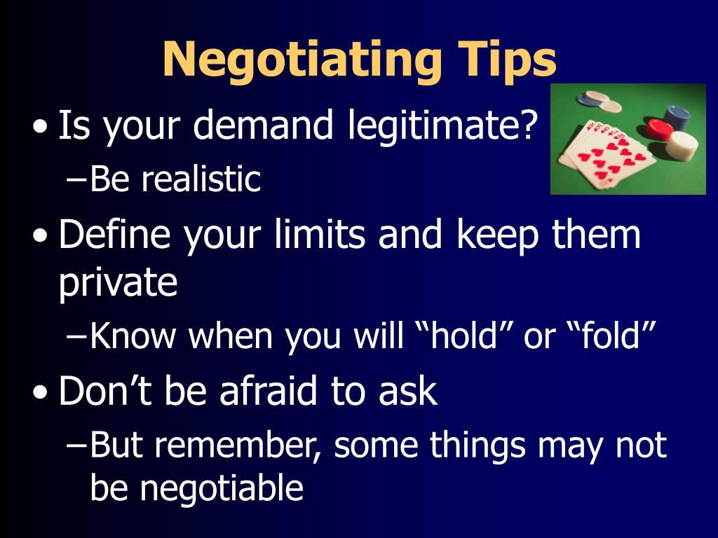 Negotiating Tips
