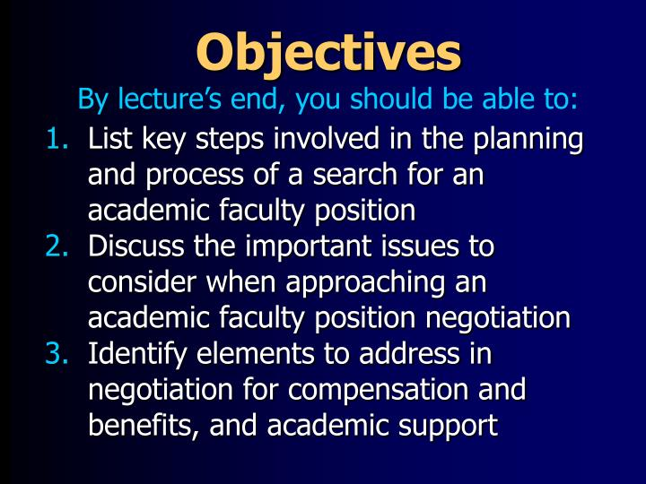 Objectives by lecture s end you should be able to