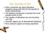 edu activities of ioa