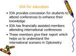 ioa for education