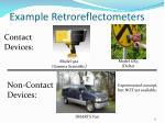 example retroreflectometers