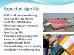 expected sign life19