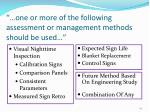one or more of the following assessment or management methods should be used23