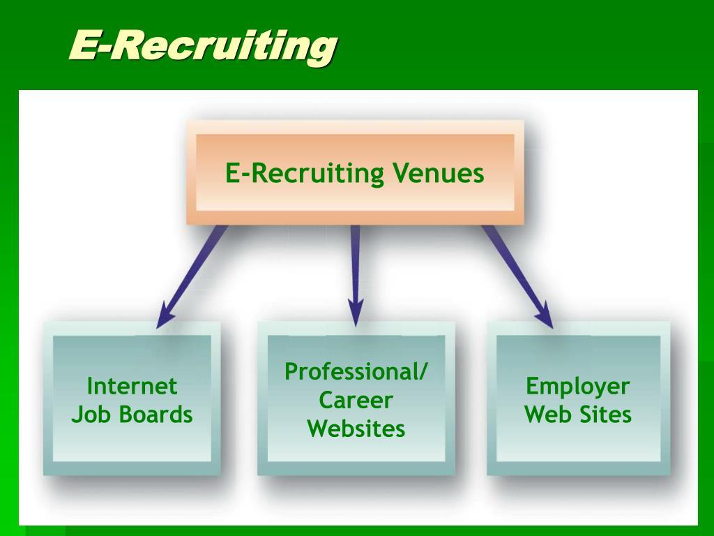 E-Recruiting Venues