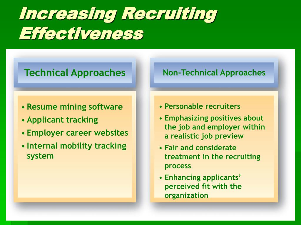 Technical Approaches