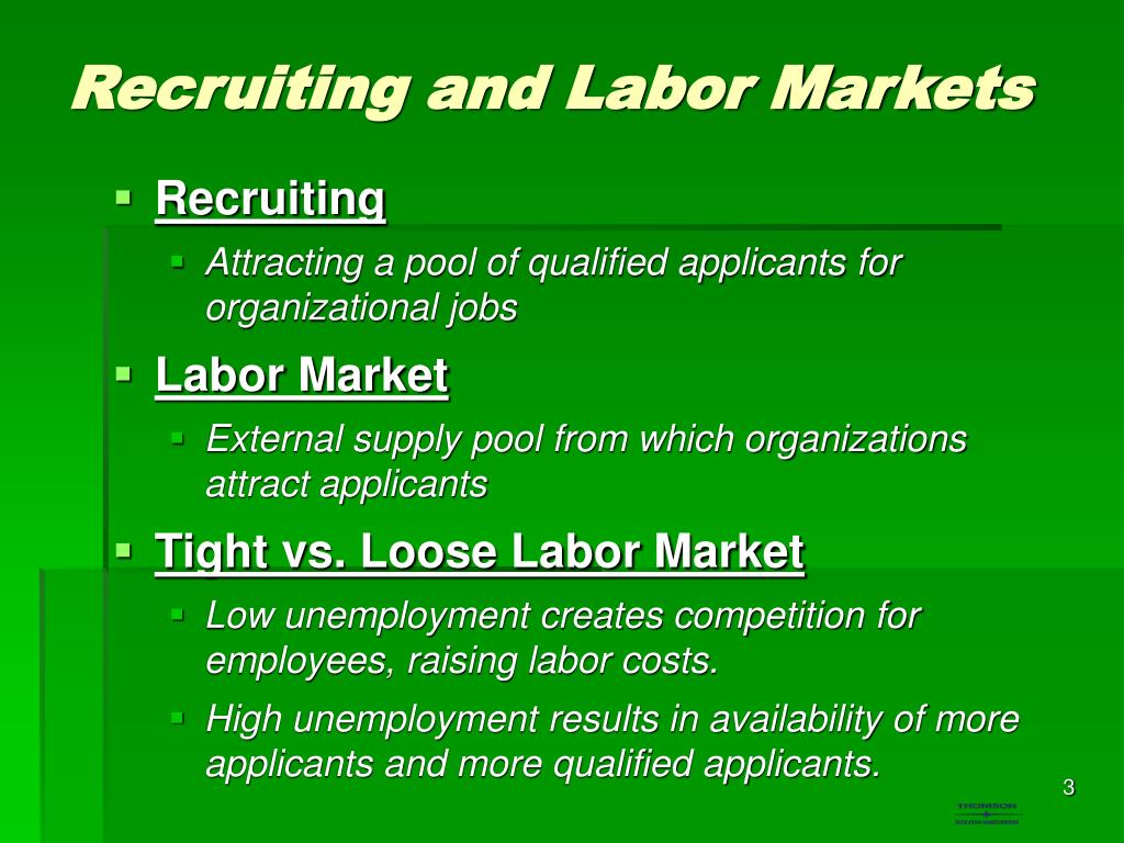 Recruiting and Labor Markets