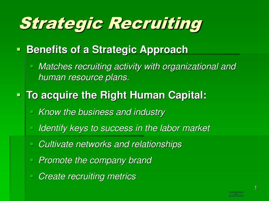Strategic Recruiting