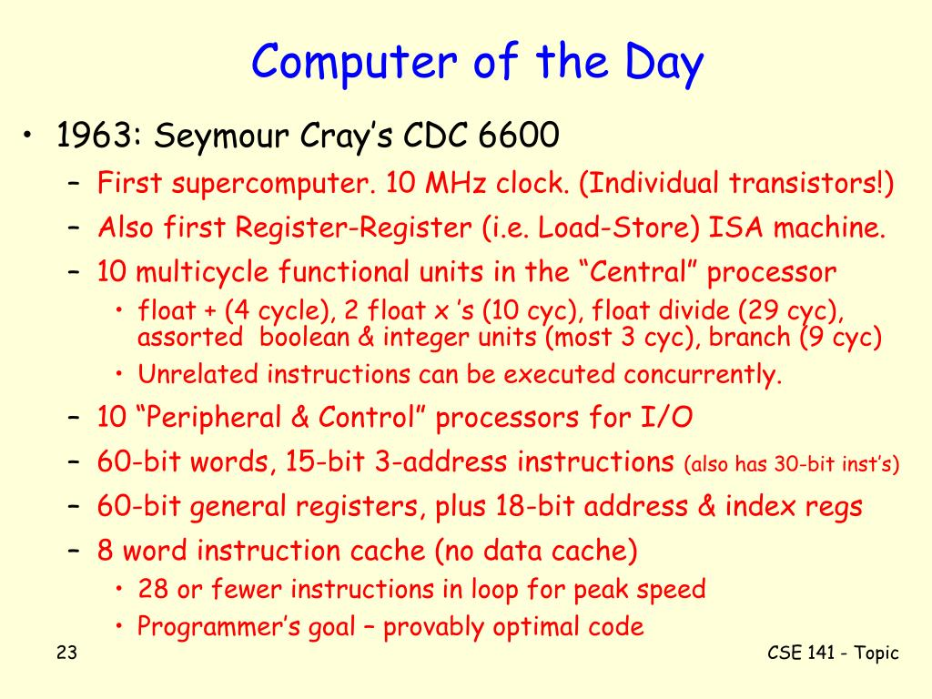 Computer of the Day