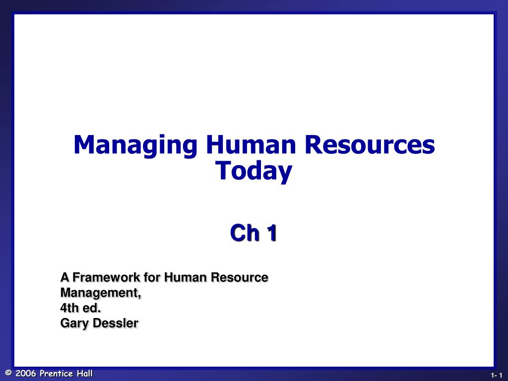 managing human resources today l.