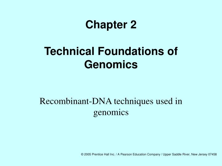 Chapter 2 technical foundations of genomics