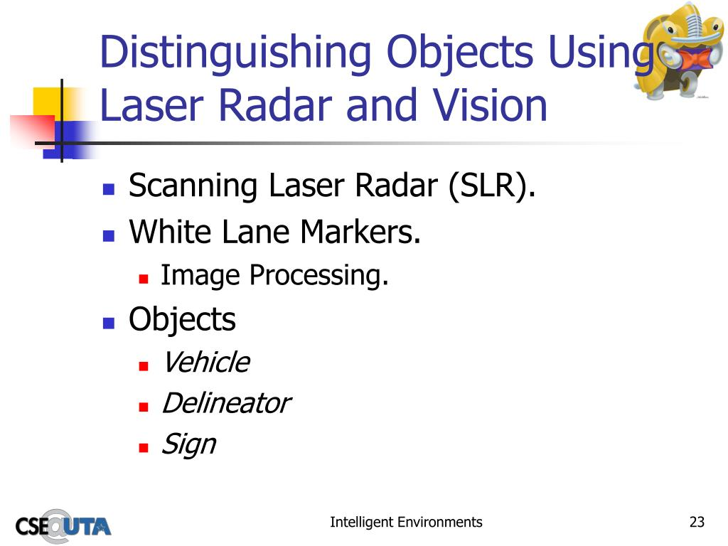 Distinguishing Objects Using Laser Radar and Vision