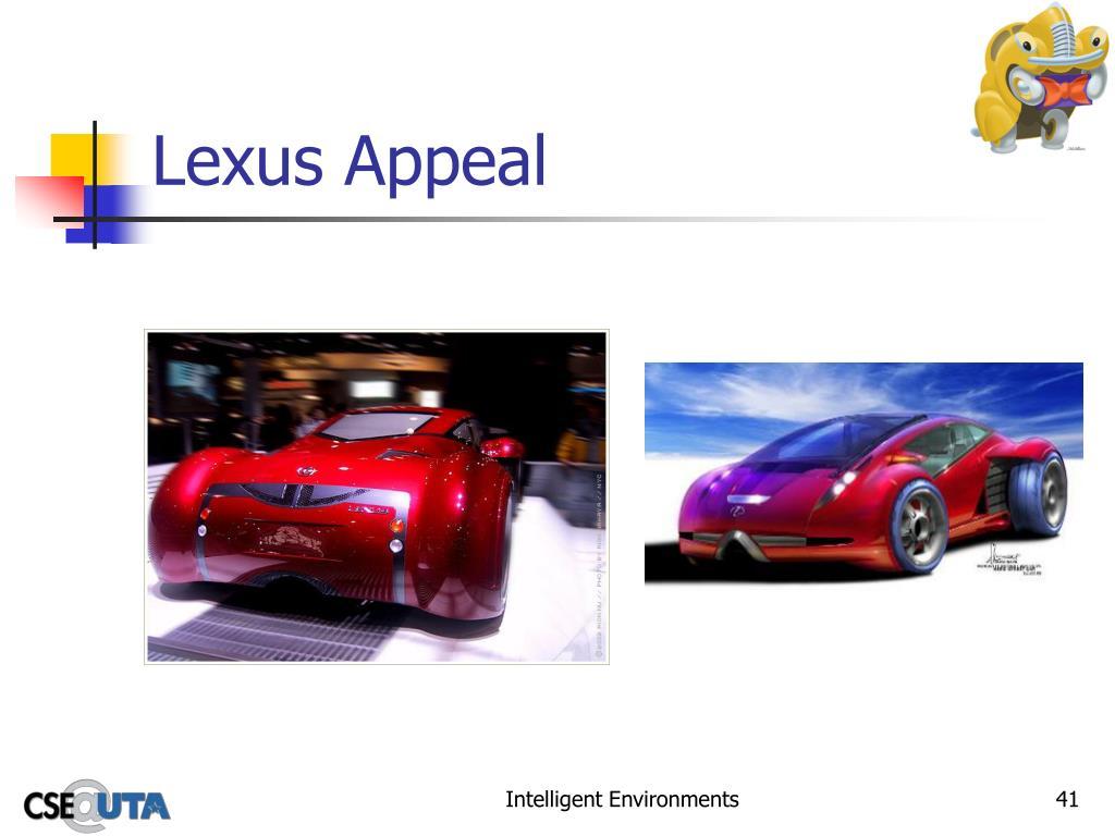 Lexus Appeal