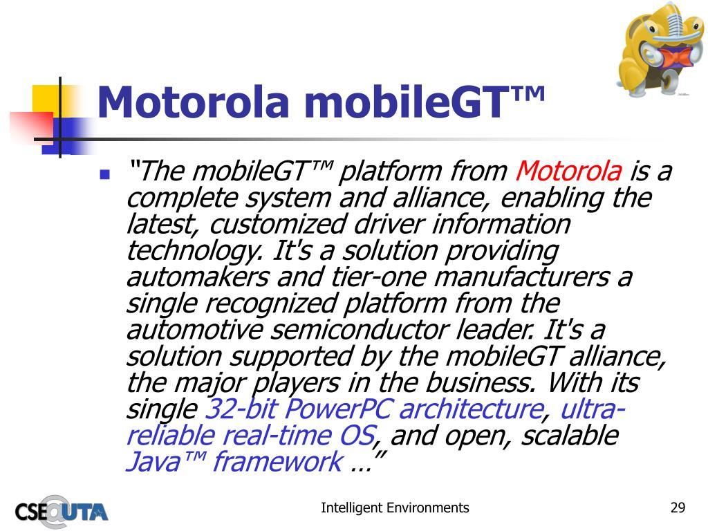 Motorola mobileGT™