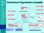 contractual organisation example