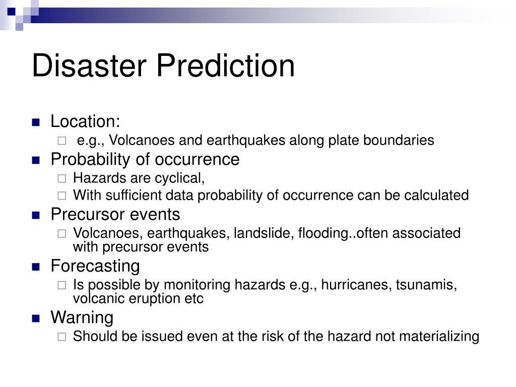 Disaster Prediction