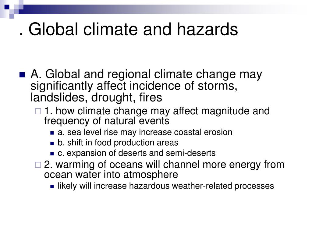 . Global climate and hazards