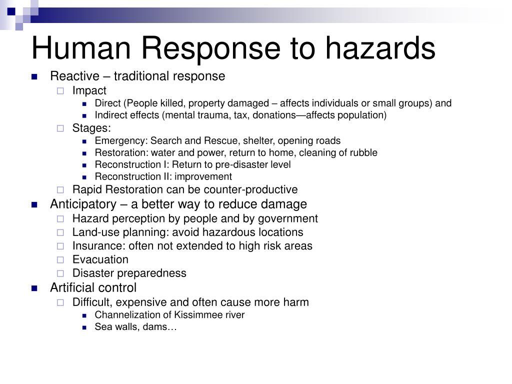 Human Response to hazards
